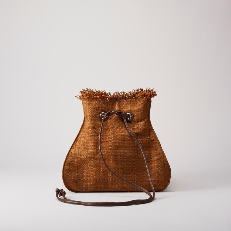 Ele`Sac RaffiaDrawstrings(Brown)