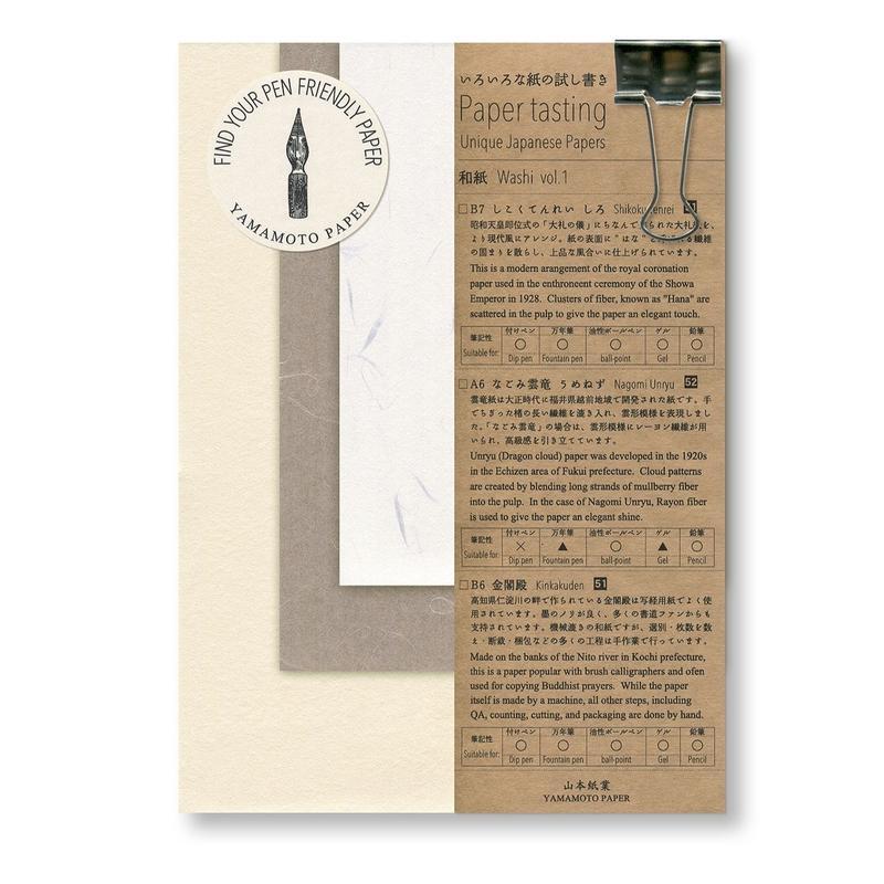 Paper tasting 和紙 Washi Vol.1