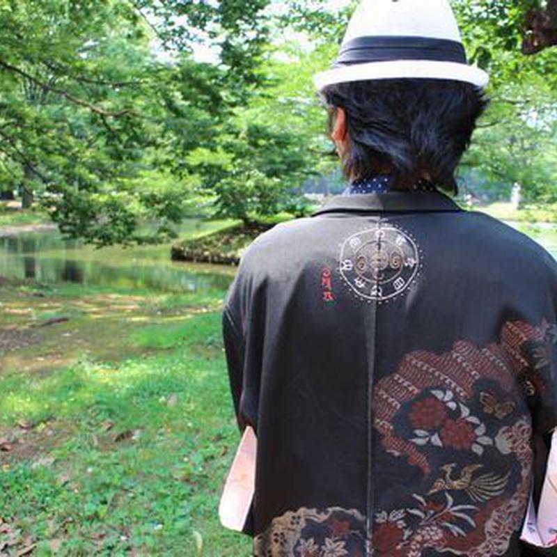 <TUTAE> Haori1016  black with bird and flower