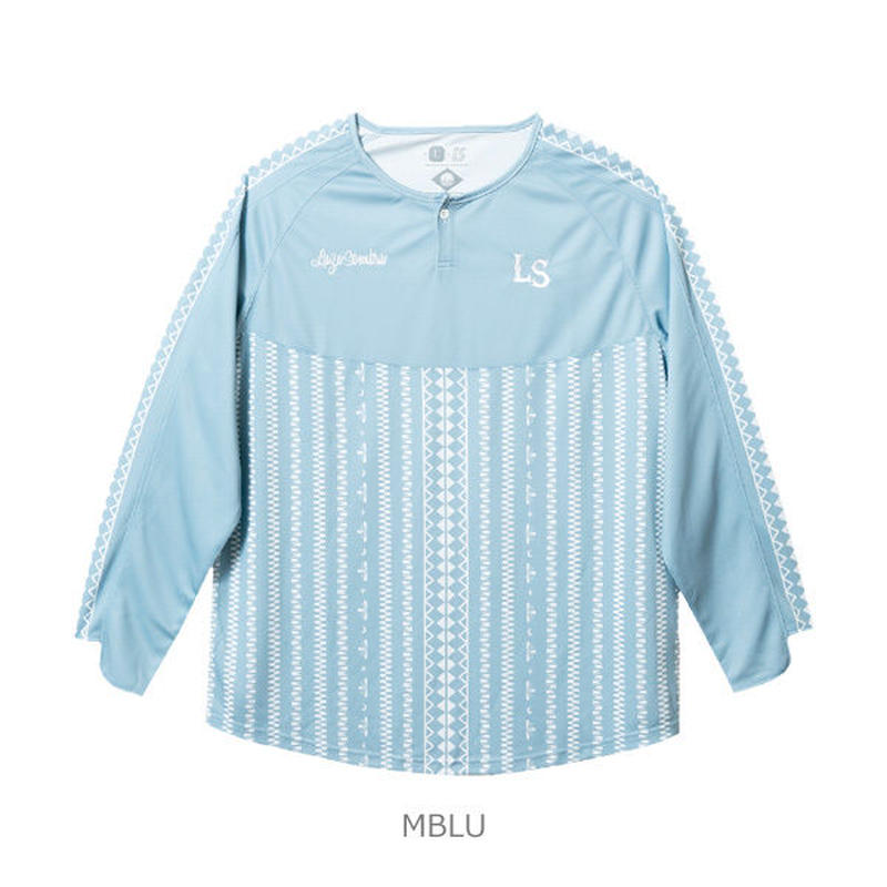 LUZ e SOMBRA TRIBAL ONE LONG GAME-SHIRT【MBLU】