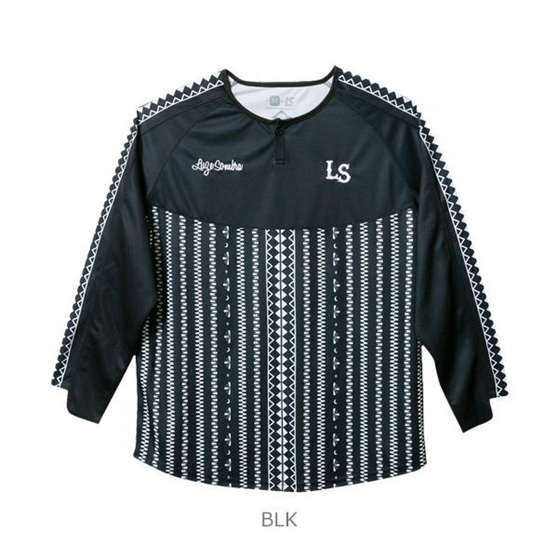 LUZ e SOMBRA TRIBAL ONE LONG GAME-SHIRT【BLK】