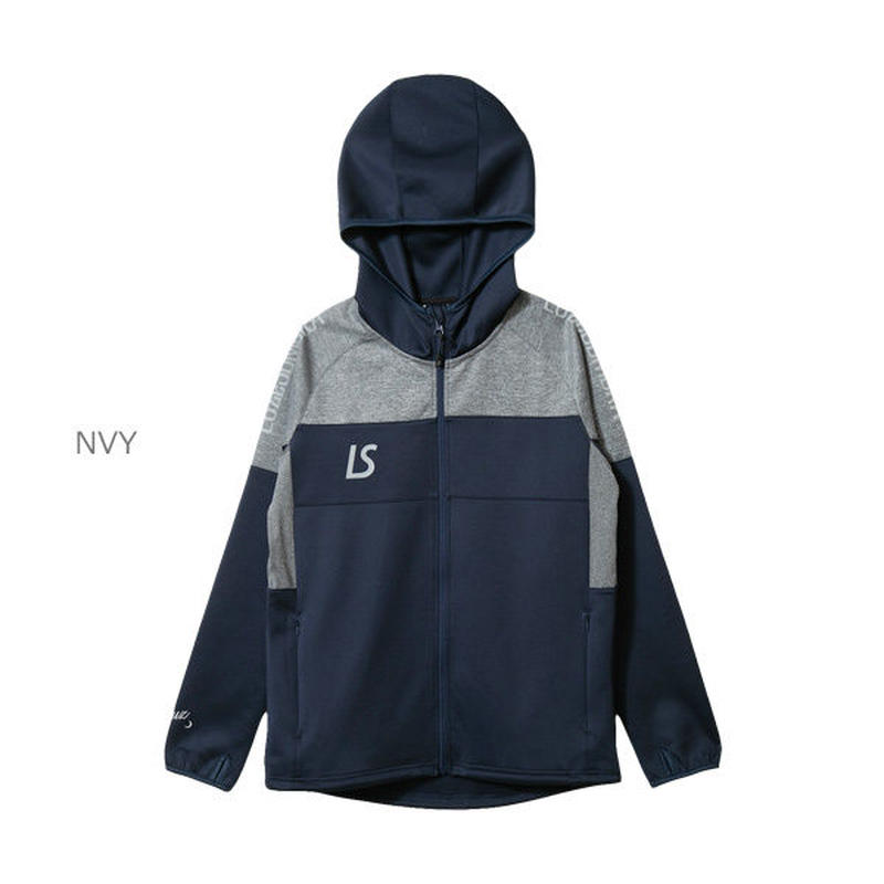 LUZ e SOMBRA SINGLE FACE JERSEY HOODIE FULLZIP JACKET【NVY】