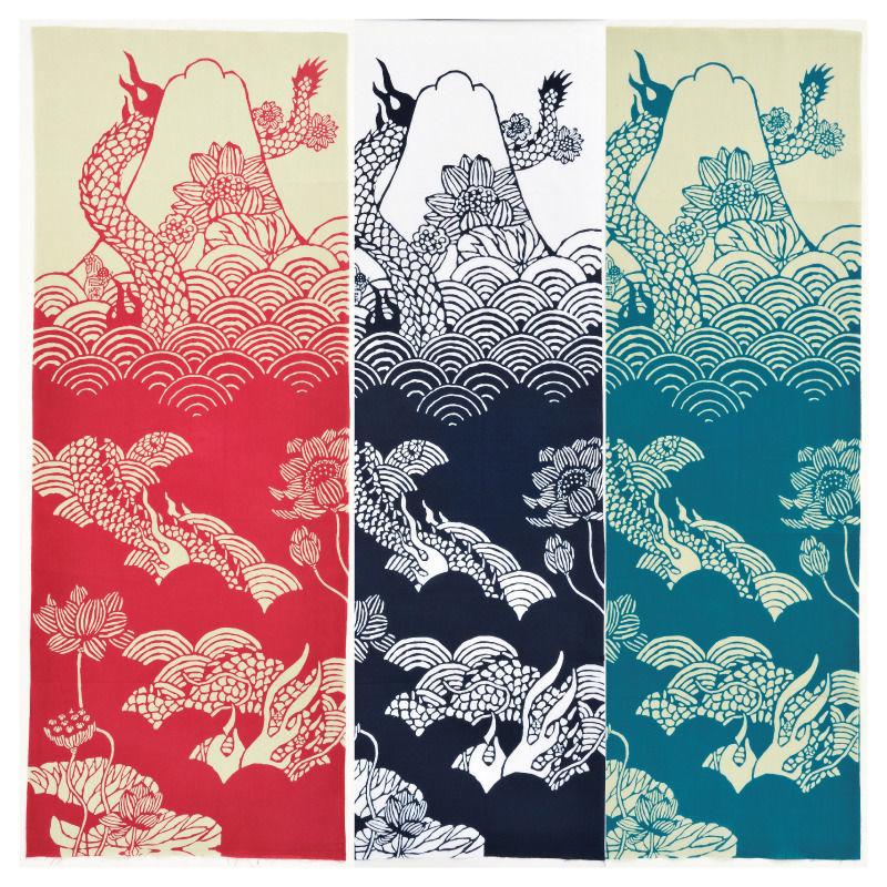 注染手ぬぐい「富士見龍」小倉染色図案工房