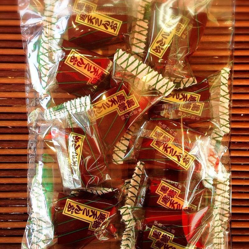 【メール便 送料無料】黒糖 寒天こんぶ (小袋10個、約130g入り)昆布飴