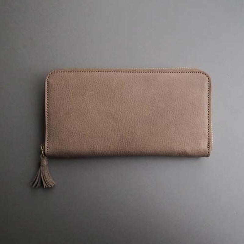 tassel zip long wallet (gray)