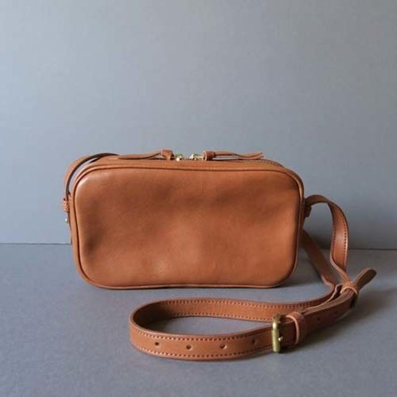 rectangle shoulder bag (brown)