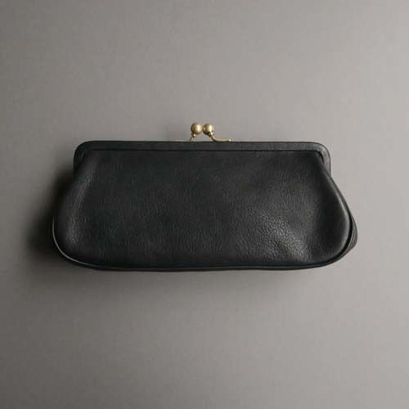 plain gama long wallet (black)
