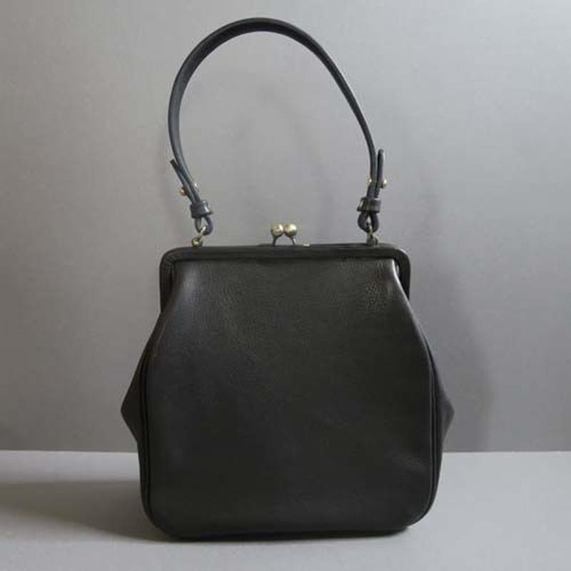plain gama hand bag-square (black)