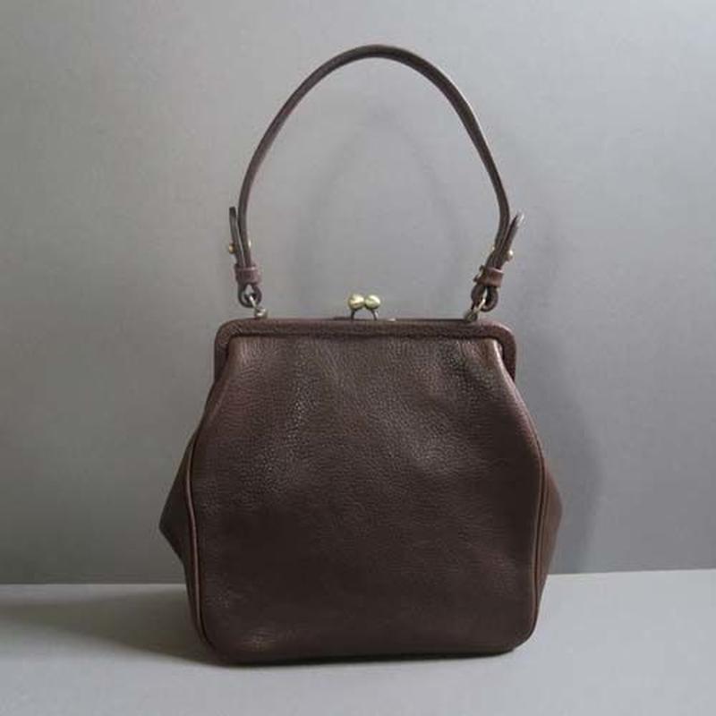 plain gama hand bag-square (dark brown)