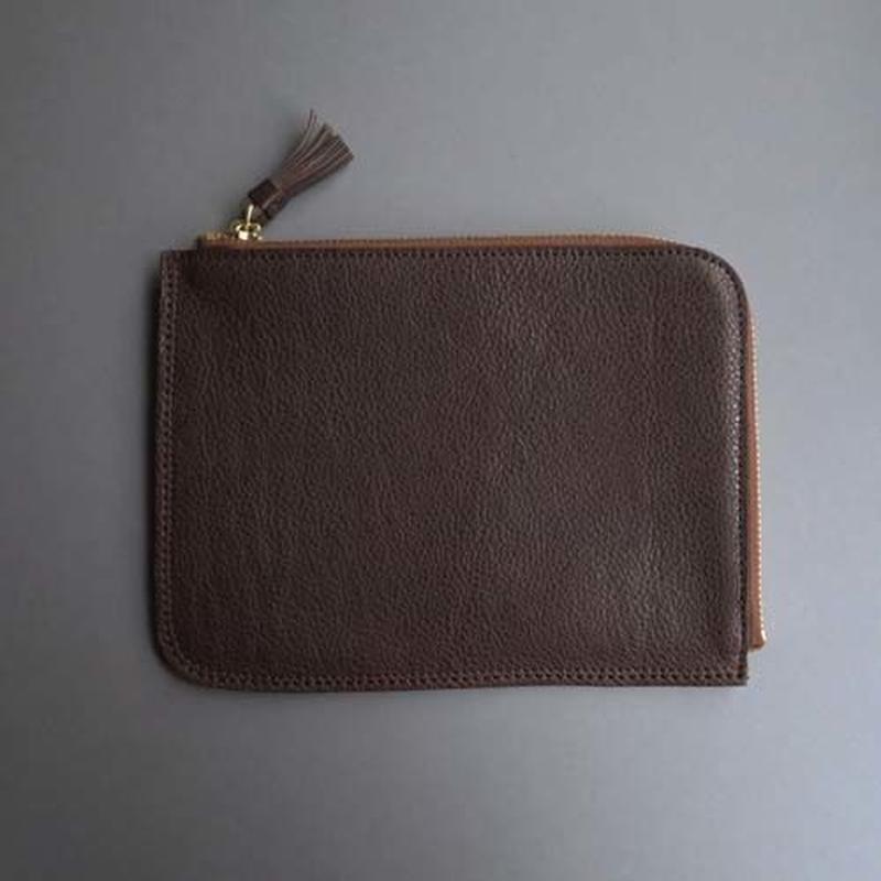tassel flat case M (dark brown)