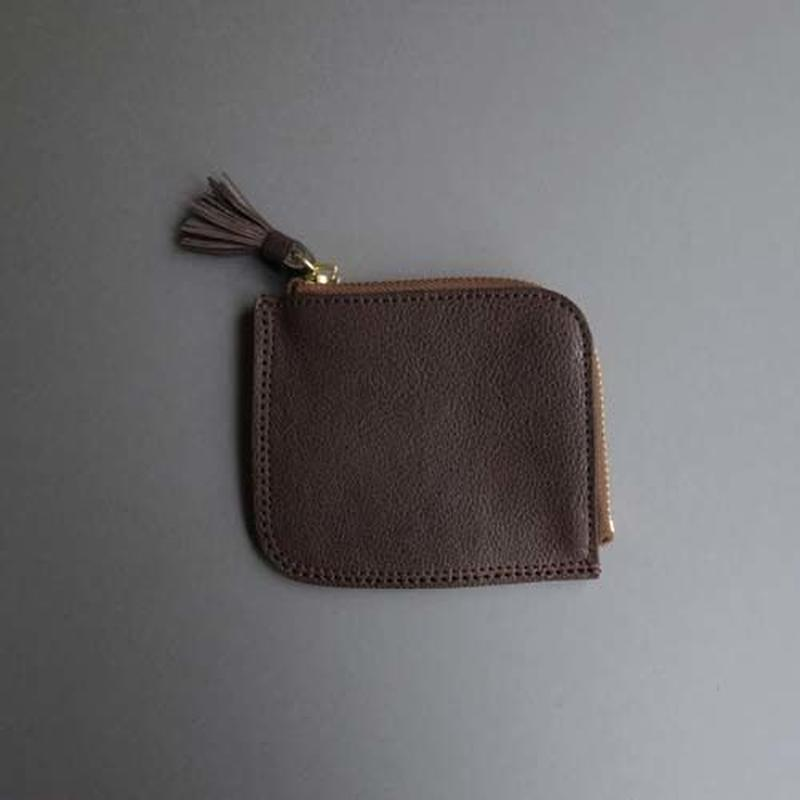 tassel flat case S (dark brown)