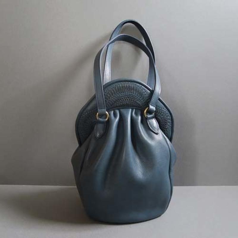 stitch hand bag (blue)