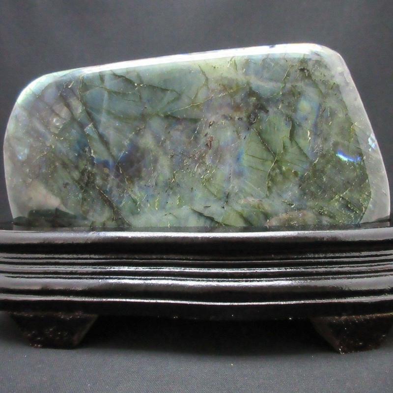 ラブラドライト 置石
