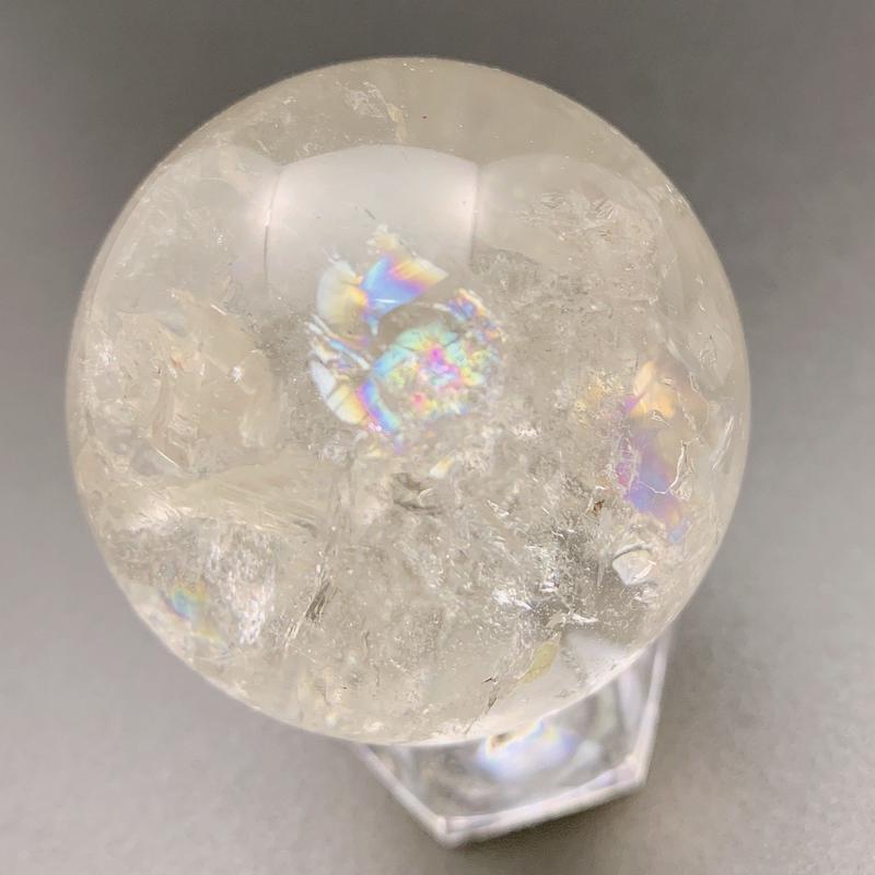 天然水晶(アイリスクォーツ) 丸玉 48.5㎜