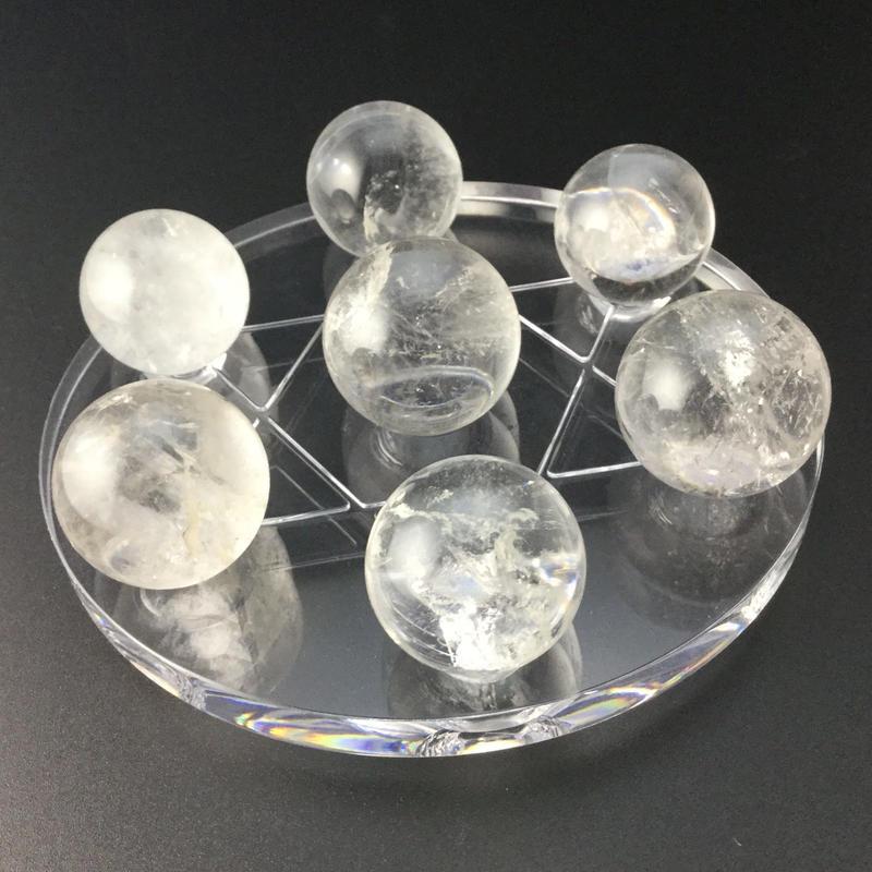 天然水晶丸玉 七星盤セット