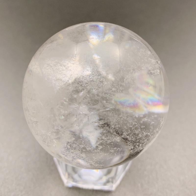 天然水晶(アイリスクォーツ) 丸玉 43㎜