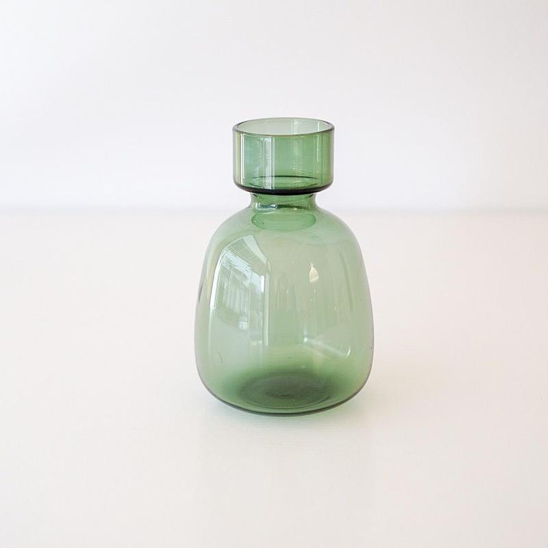 GLASSフラワーベース ディア― green