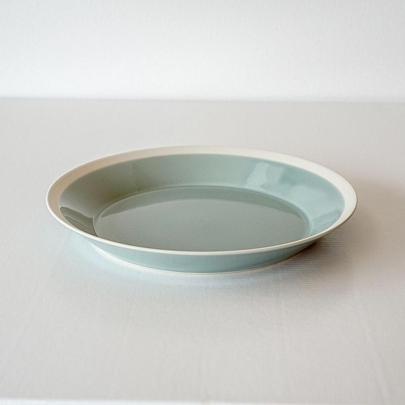 iihoshi yumiko    dishes   プレート220 pistachio green