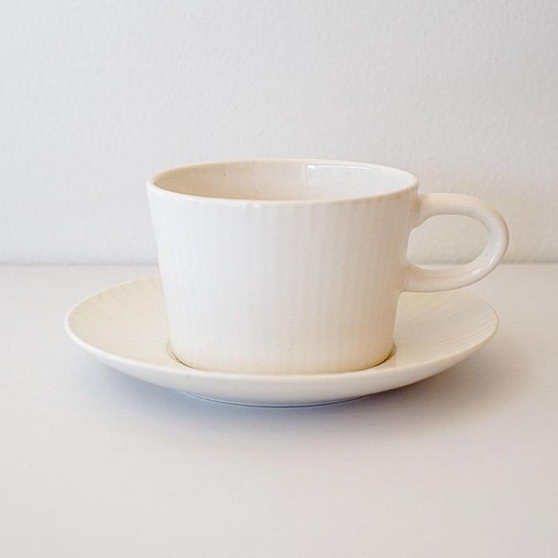 プラート  ティーカップ&ソーサー ホワイト