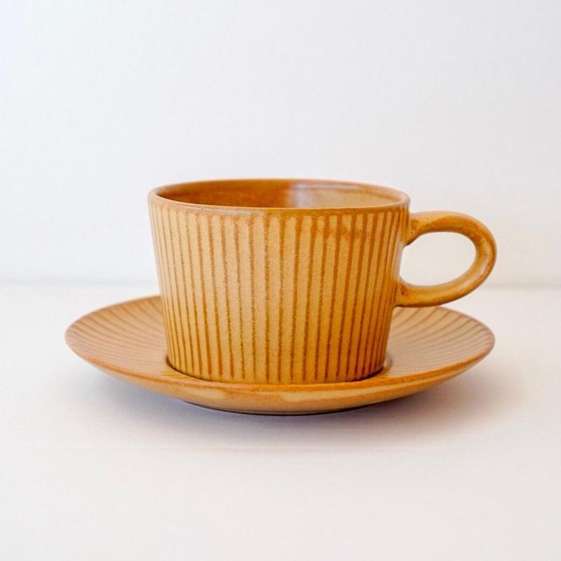 プラート  ティーカップ&ソーサー カーキ