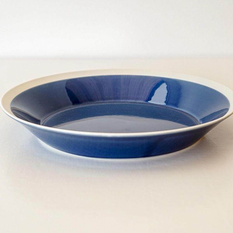 iihoshi yumiko    dishes   プレート230 ink blue