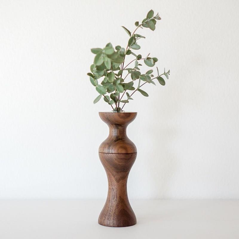 flower vase ウォールナット midium
