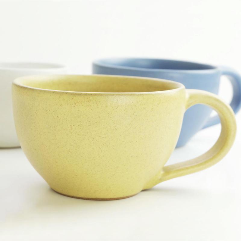 イエロー ストーンウェア コーヒーカップ