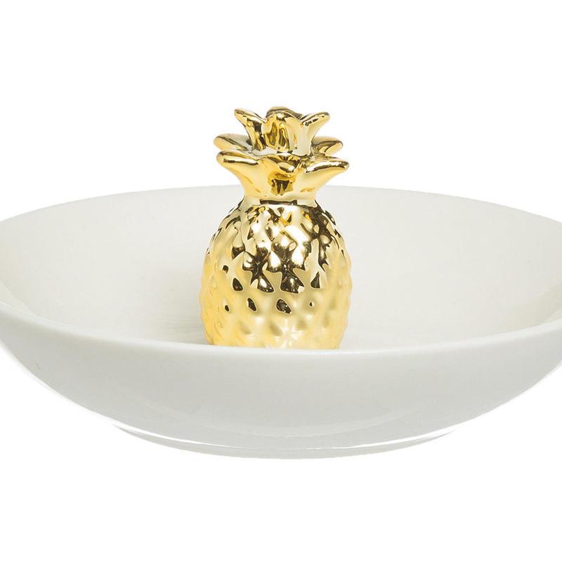 【Creative Co-Op Home】ジュエリーホルダー パイナップル,Stoneware Jewelry Holder