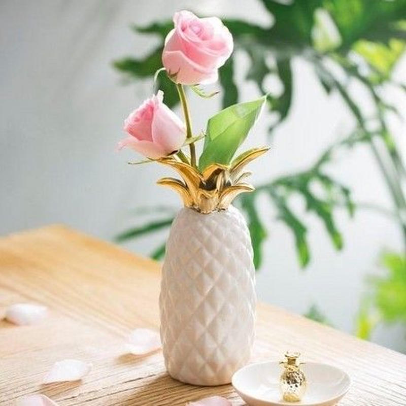 【Creative Co-Op Home】パイナップルフラワーベース,Stoneware Pineapple Vase