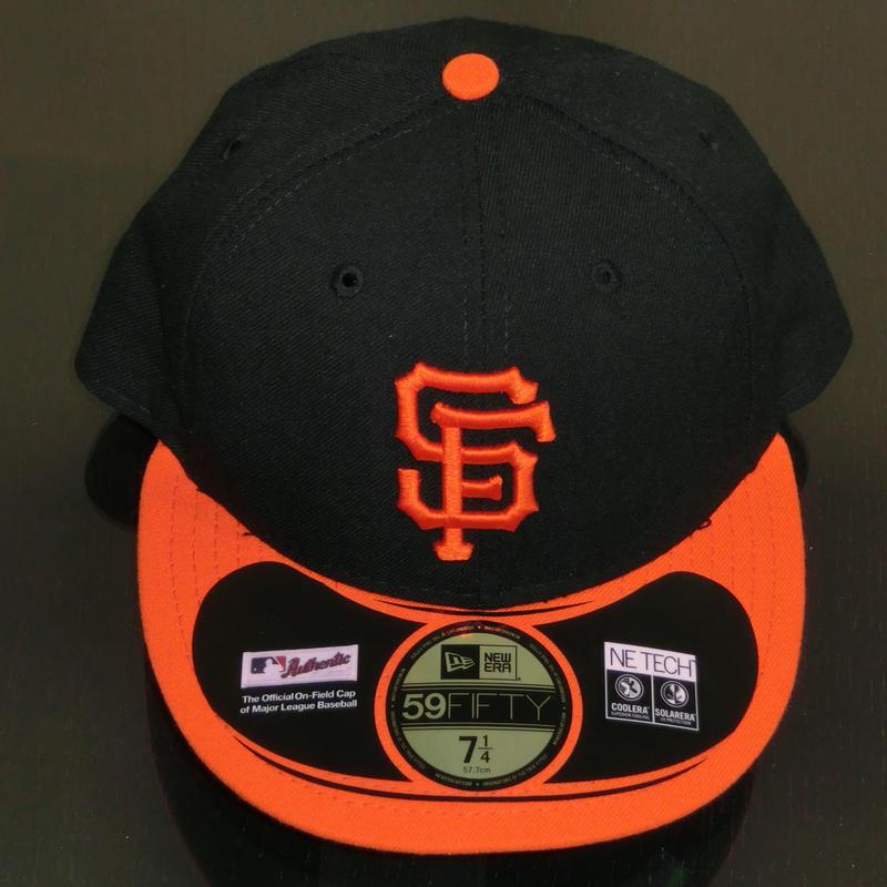 帽子 オレンジ&黒