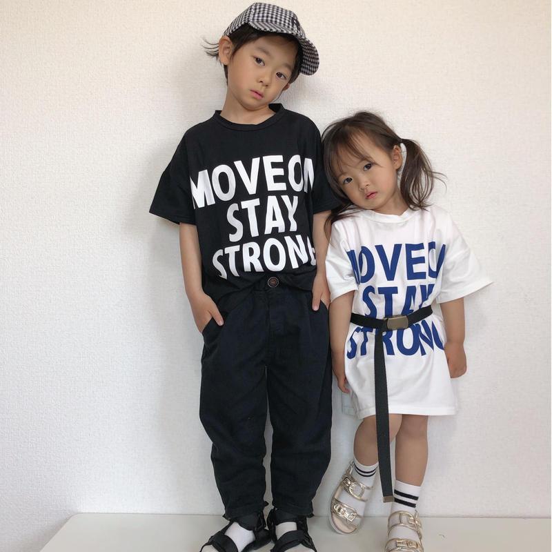 【2色展開】MOVE ON STAY STRONG ビッグTシャツ