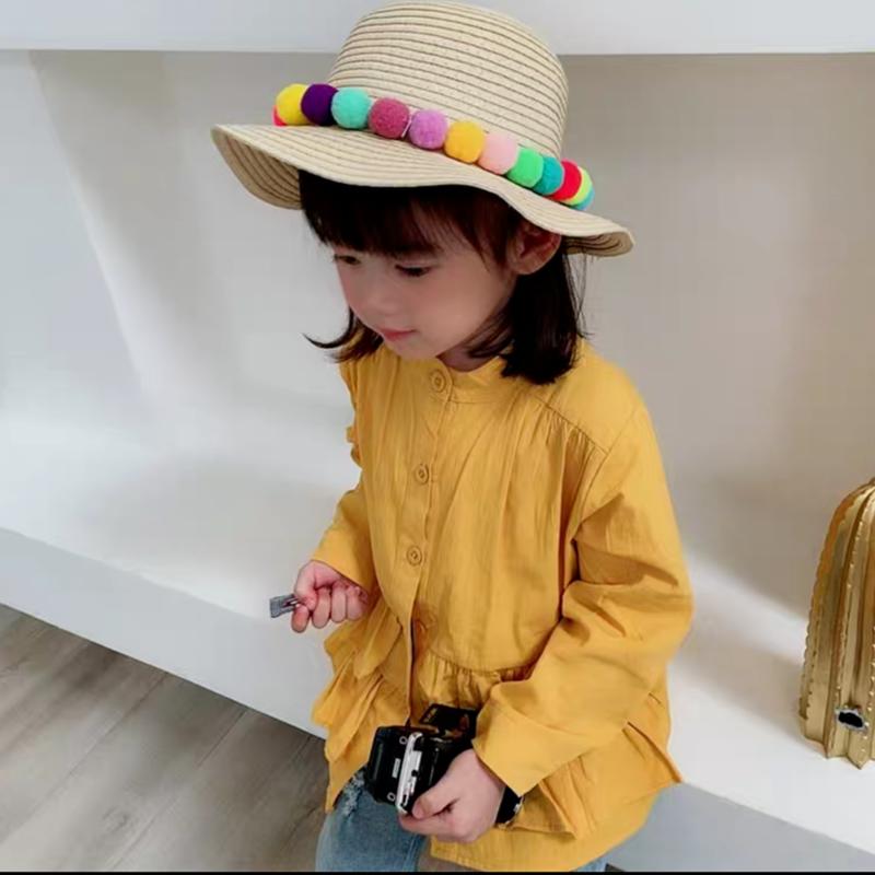 【2色展開】ペプラム風スタンドカラーシャツ