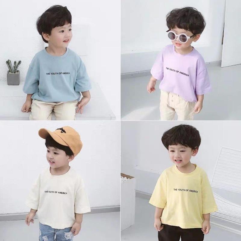 【4色展開】マカロンカラー7分丈Tシャツ