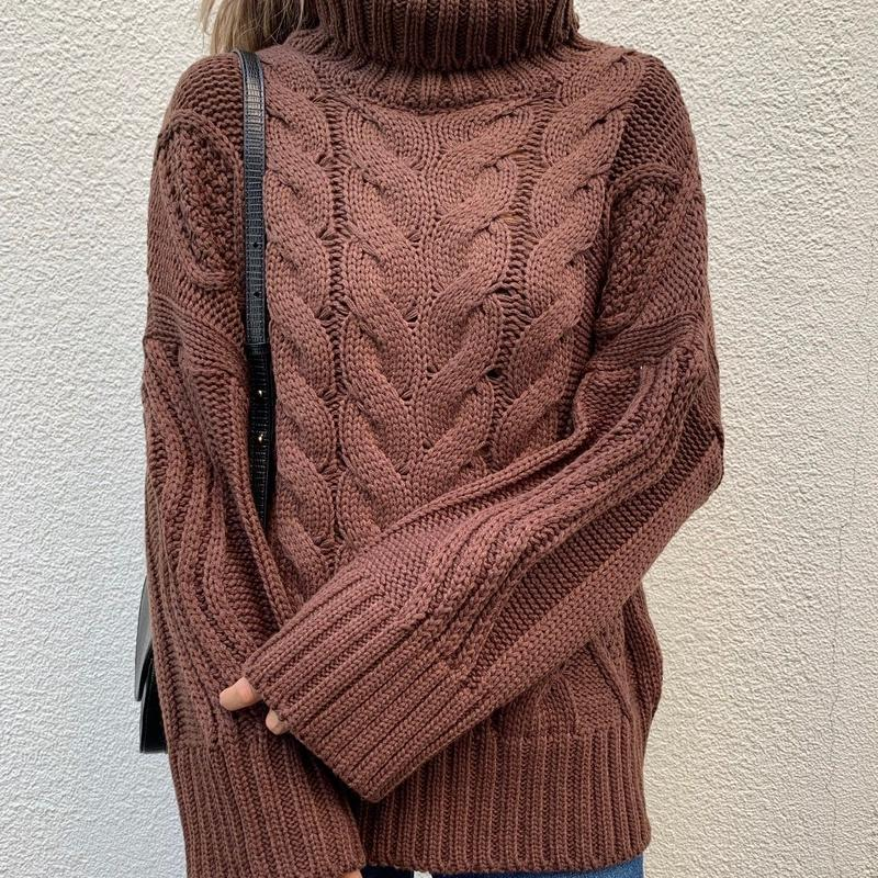 cable turtleneck knittops