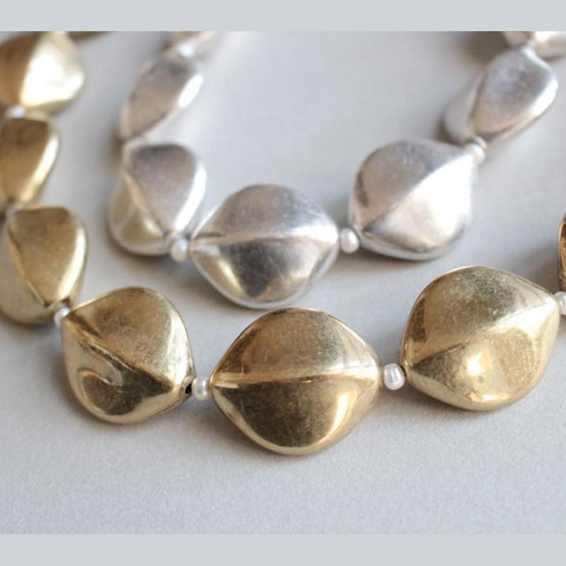 シードタイプ ホワイト|Seed Necklace W 48cm