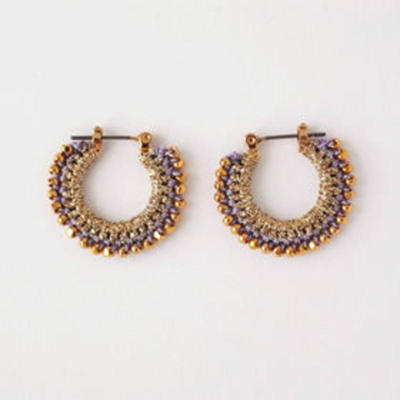 vita gold pierce/earring (Ssize) gold×lavender