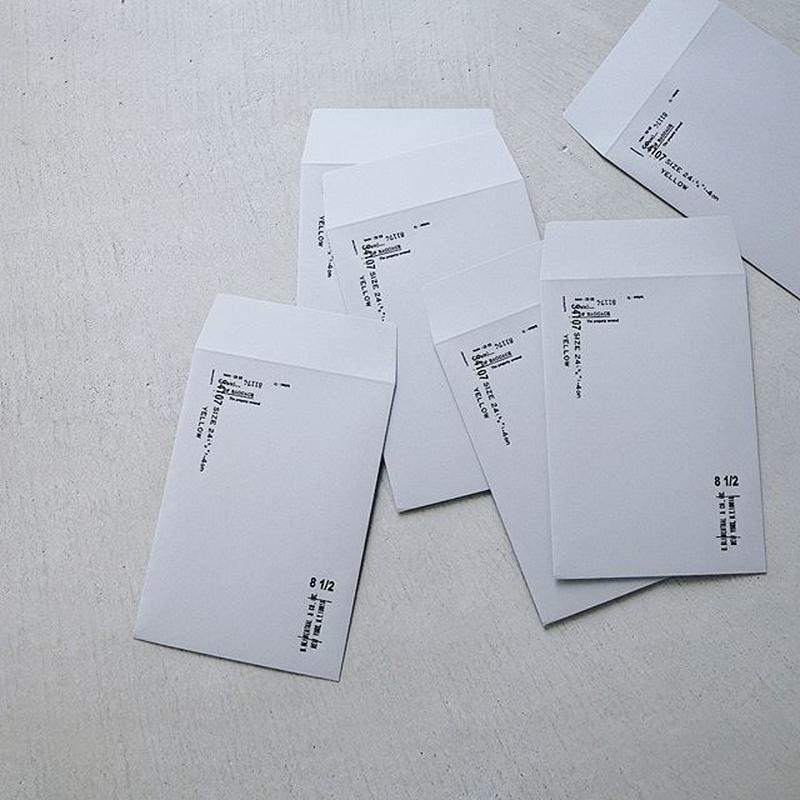M-004    活版の封筒  /  クロ