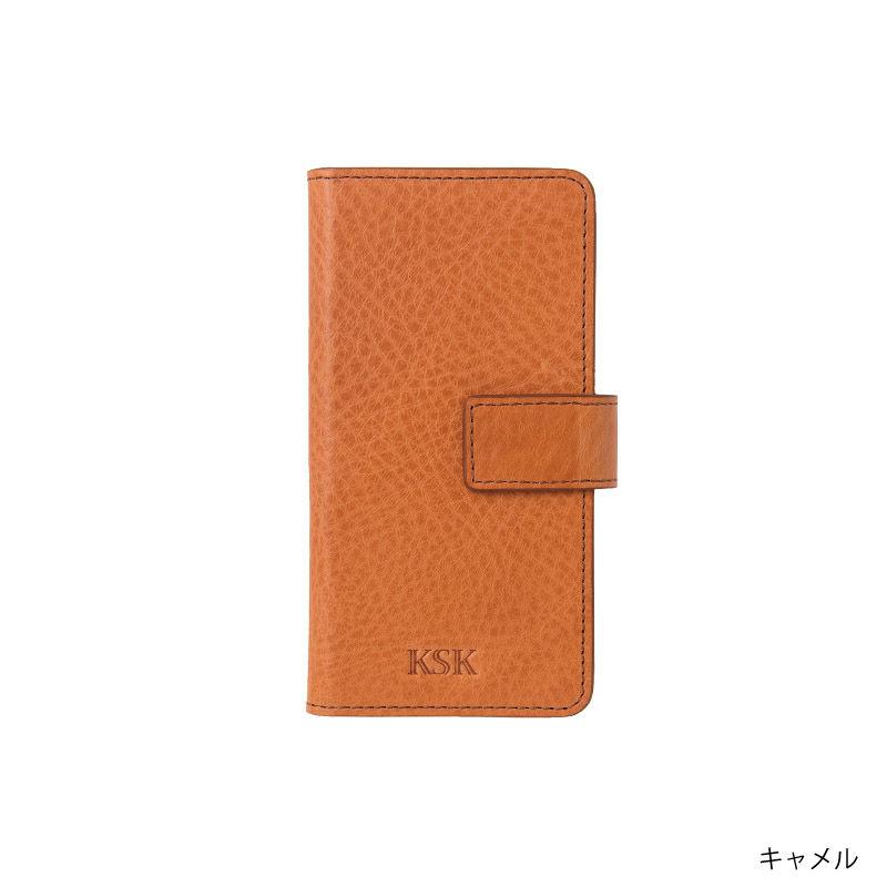 KSK手帳型ケースロゴ:iPhone8/7/6S/6(キャメル/コバルト/レッド/ブラック)