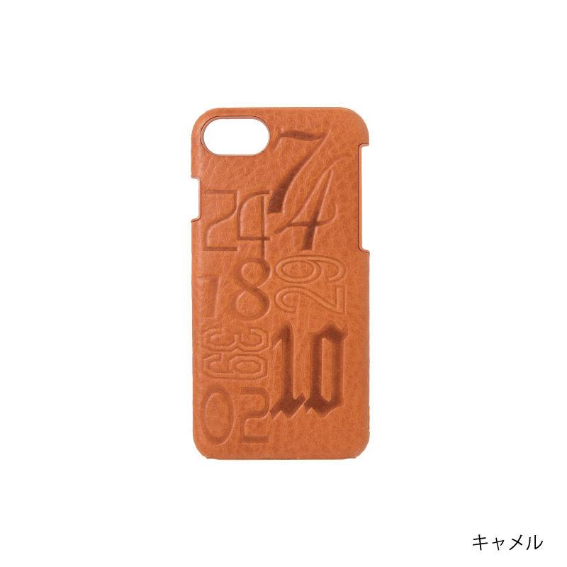 KSKハードケースナンバー iPhone8/7/6s/6(コバルト/レッド/キャメル/ブラック)