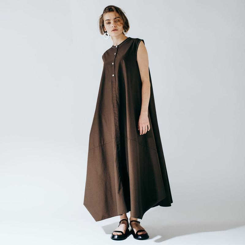 balloon dress (brown)