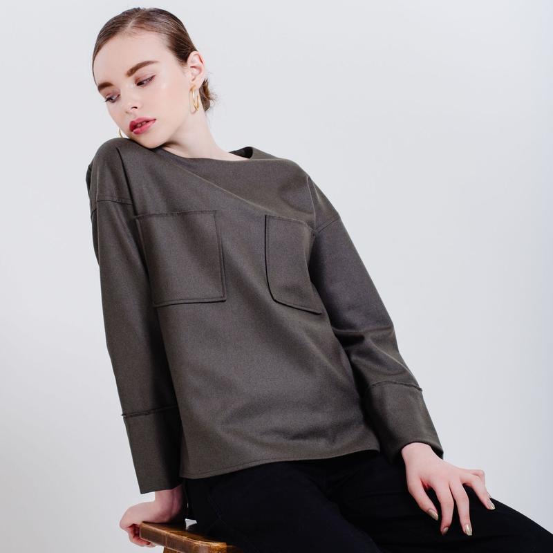 fringe detail wool pullover