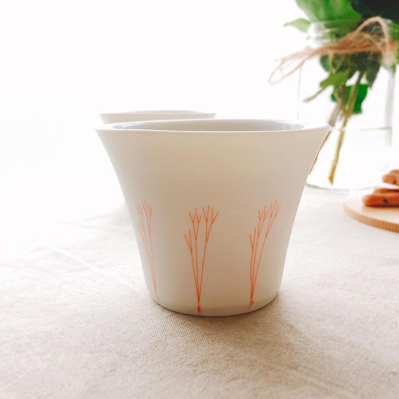 YOnoBI 磁器カップ【G-CUP】コーラルピンク