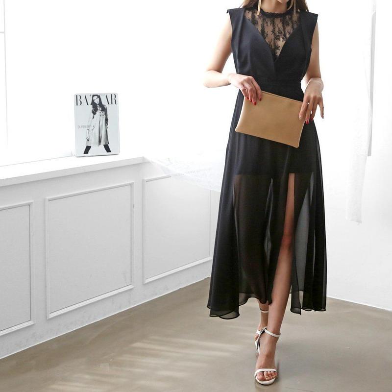 【特別な日DRESS】ハリウッドシースルーDRESS【パーティーに、特別な日に♡】2カラー/2サイズ展開!