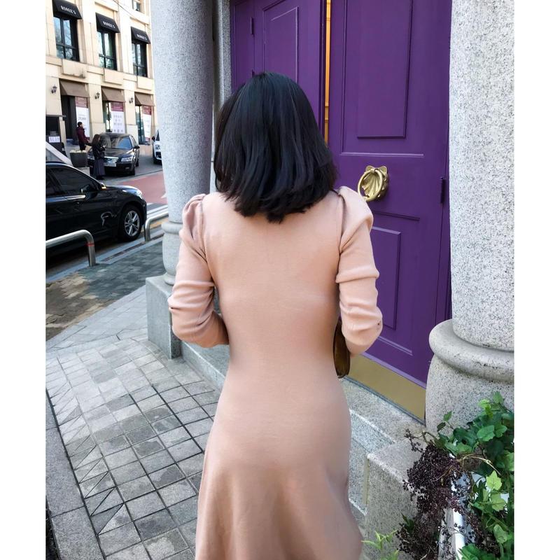 再々入荷◆ユヒャン推薦◆女王のロマンスニットドレス【高級感あり】