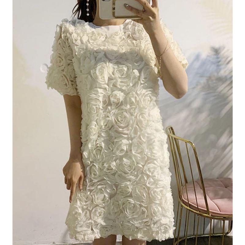 立体ローズワンピースドレス【写真映え最強】
