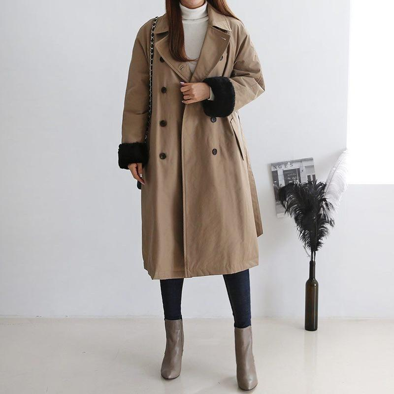 【知的でレディ感溢れる】女優トレンチエコダウンコート【ユヒャンオススメ】◆軽くて薄くて暖かくてリッチ◆