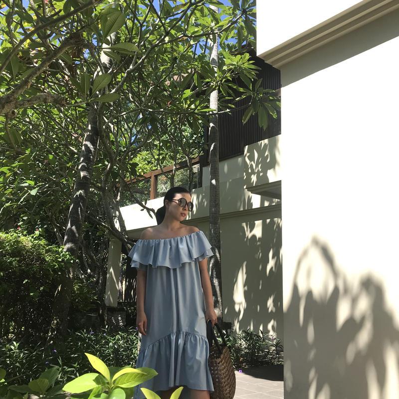◆リゾートエレガンス◆オーシャンエレガントドレス【空色】