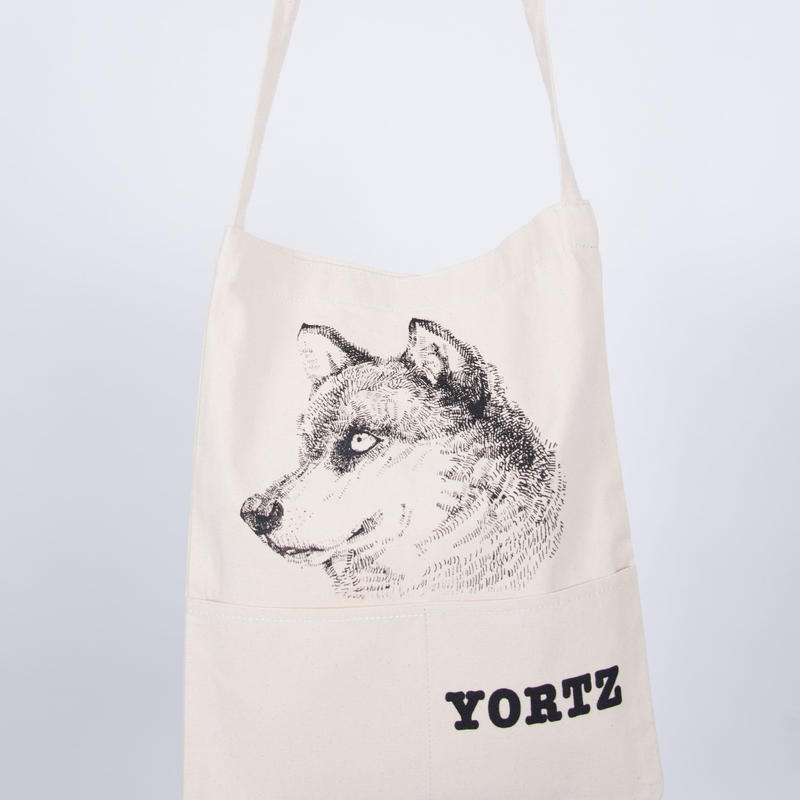 2ポケット・オオカミショルダートートバッグ