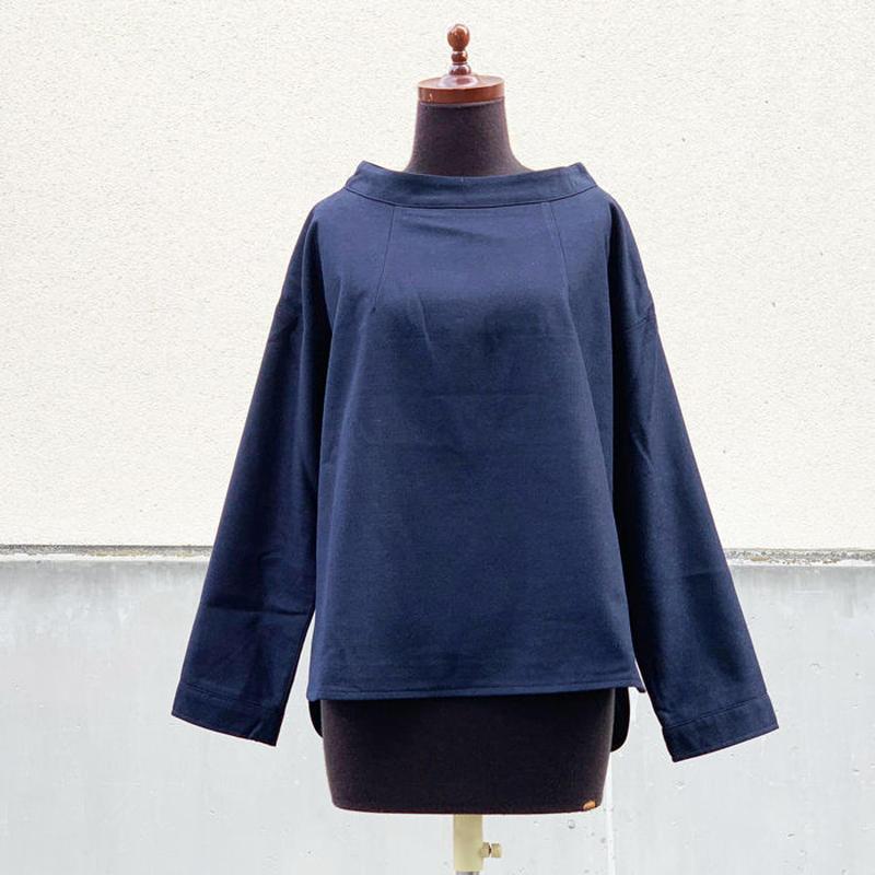 Kelen★ケレン★ 洗える綺麗目!モックネックヘムデザインシャツ Mock Neck Tops Ib(LKL18FBL15)