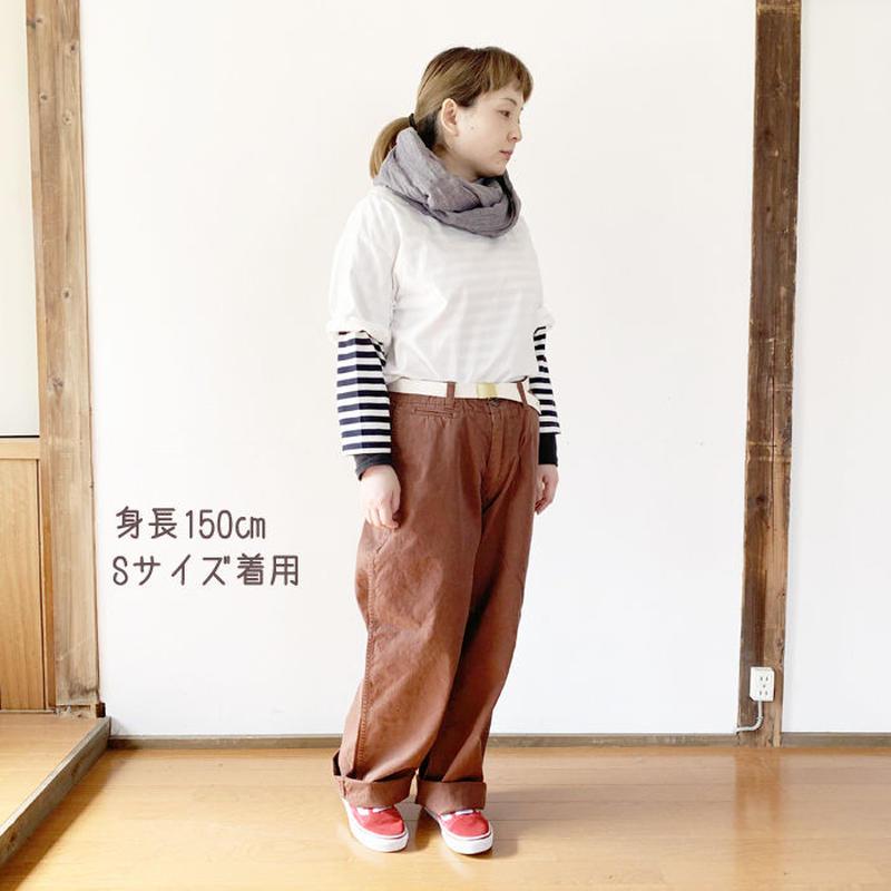 新色!女性着用*MASTER&Co*マスターアンドコー★Long Chino Pant with Belt オフィサーチノ(ブラウン)